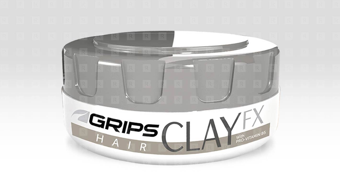 Grips Hair Clay FX  Container design