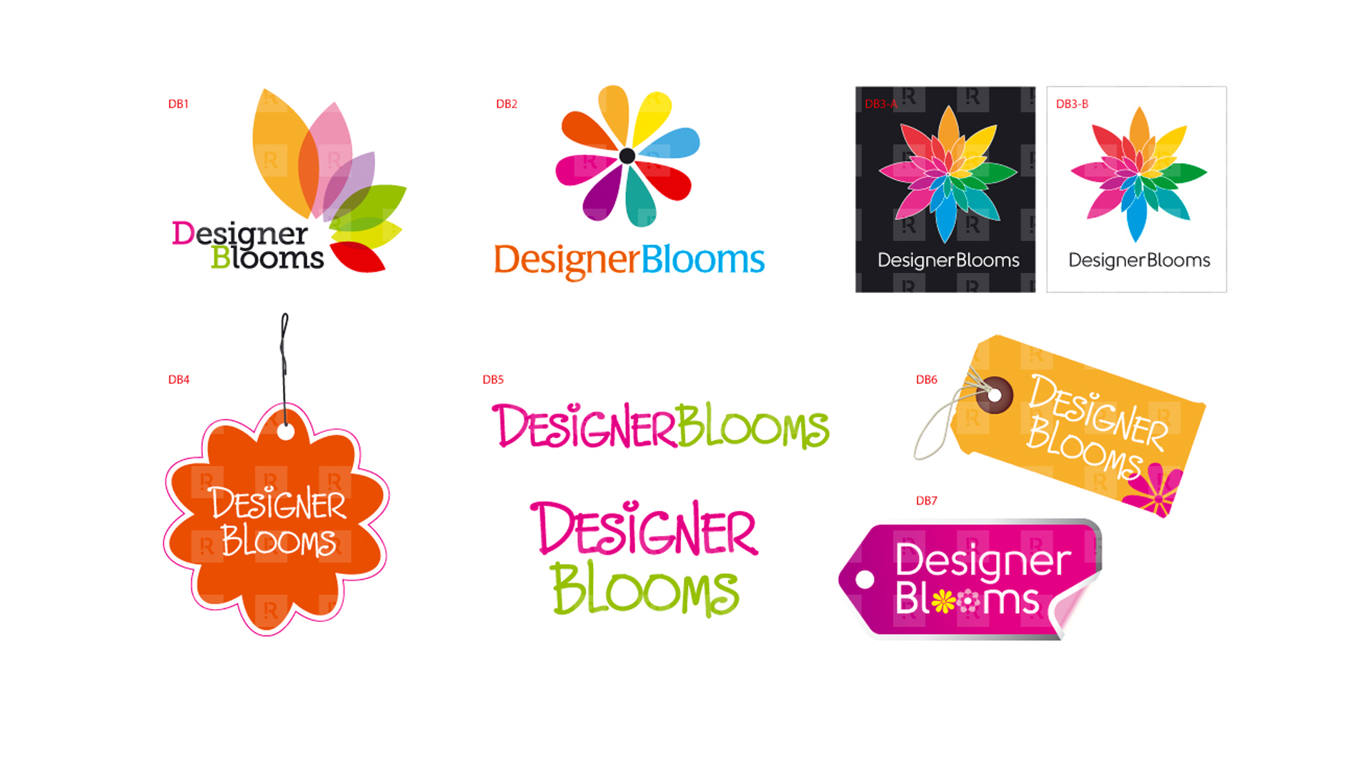 Designer Blooms Logo Design & Studies