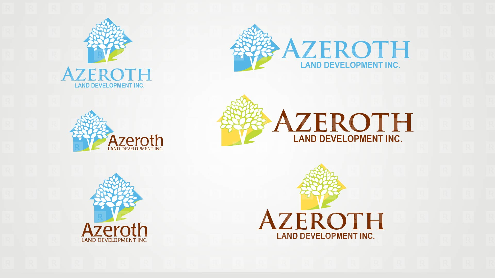 Azeroth Land Development Inc. Brand Identity studies