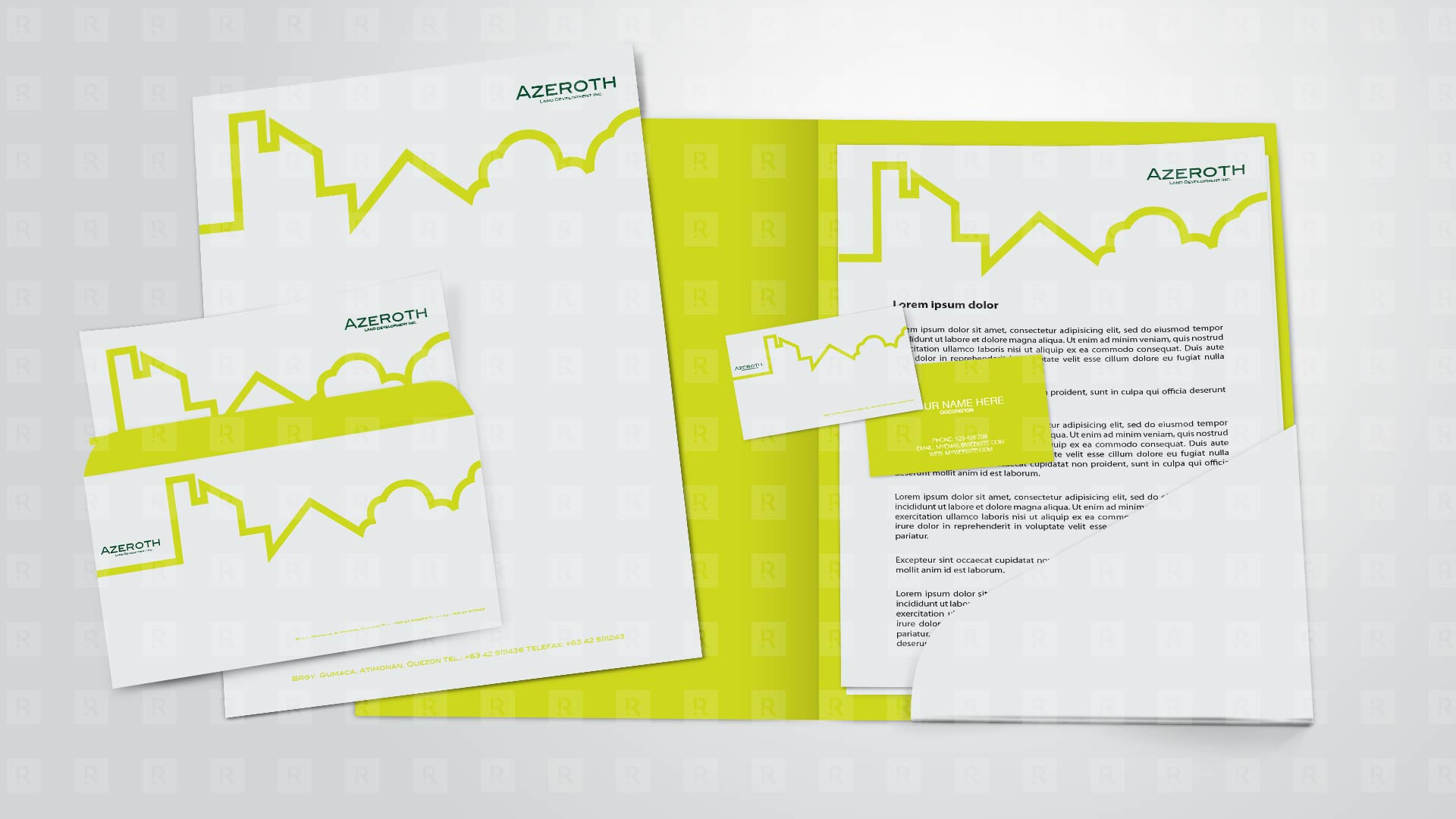 Azeroth Land Development Inc. corporate Identity Design