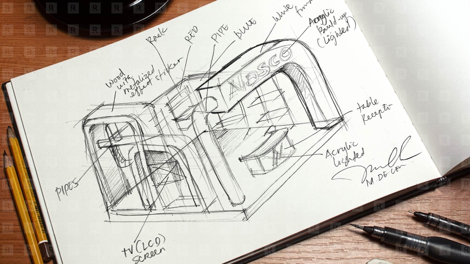 Alasco Booth Design Sketch