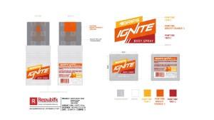 Grips Mens Body Spray Packaging Design Studies.